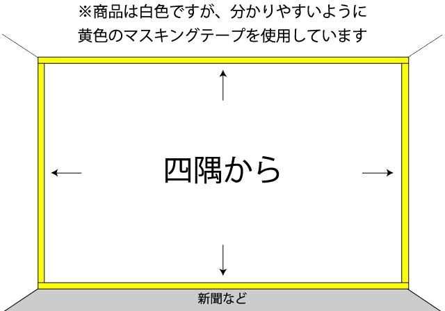 上下左右の外側4方向を先に貼りましょう。のイメージ1